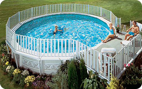 aboveground pool lifestyle2 Cheap Above Ground Pools