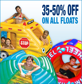 34%-50% off on all Pool Floats
