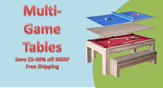 Multi-Game Table Sale