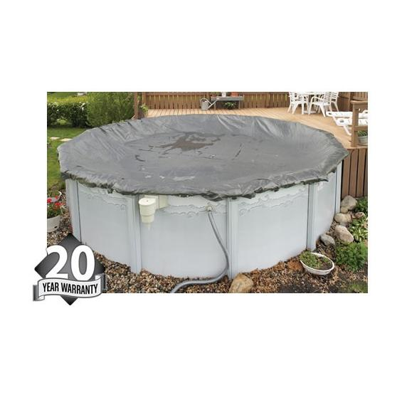 Winter Pool Cover - Above Ground Pool- 20 year Warranty (silver)