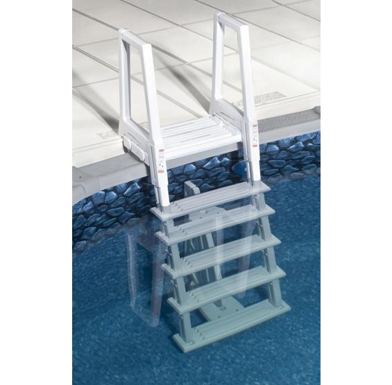 Deluxe heavy duty in pool ladder pc pools for Pool ladder