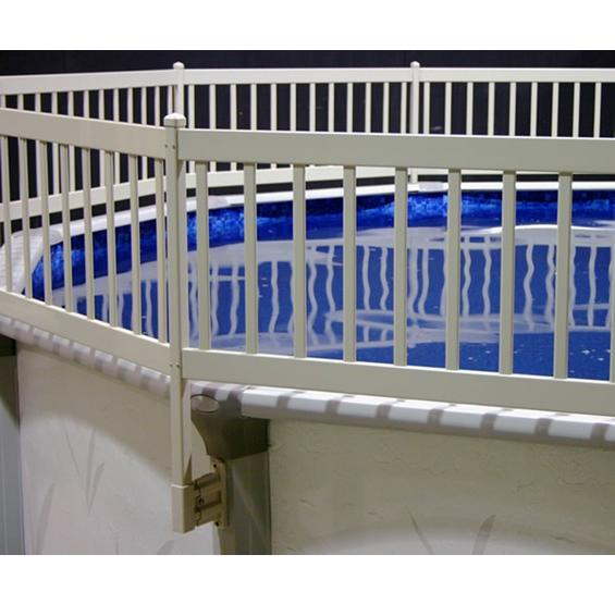 5'x13' Above Ground Pool Deck System w/ Ladders WHITE - NE144