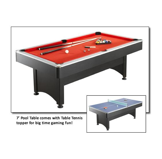 7 Ft. Pool Table With Table Tennis