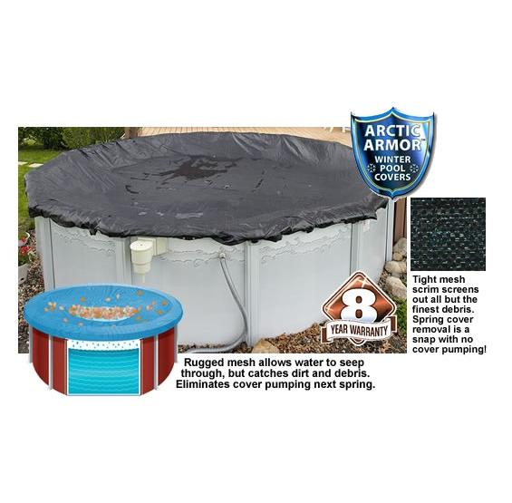 Rugged Mesh Winter Pool Cover Above Ground Pc Pools