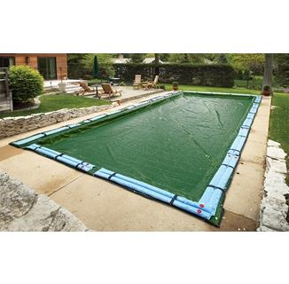 Winter Pool Cover - In Ground Pool - 12 Year Warranty (green)