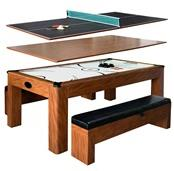 Sherwood 7-ft Air Hockey Table with Benches