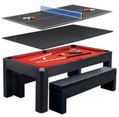 Park Avenue 7-ft Pool Table Combo Set with Benches