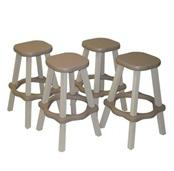 Resin Bar Stools (Set of 2)