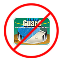 2b845efffe76 ... pads as they will not protect your above ground pool liner. No  linerGuard