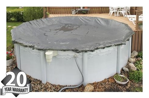 Do it yourself guide to winterizing your above ground pool for Above ground pool winter cover ideas