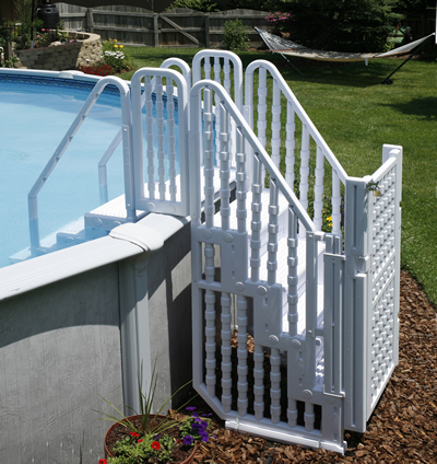 easy pool step with gate