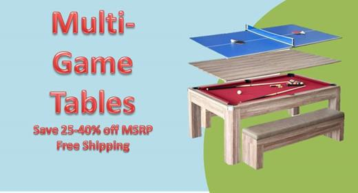 Multi-Game Table Sale