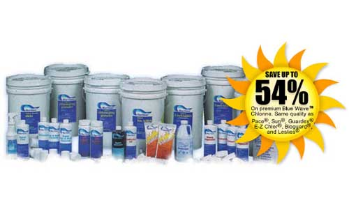 Save on Blue Wave Pool Chemicals