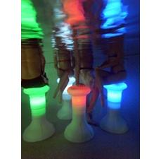 The Pool Stool multicolor LED HDPE stools