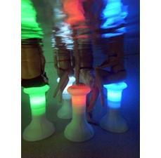 The Pool Stool multicolor LED HDPE stools