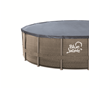 Blue Wave® Dark Cocoa Wicker Frame Swimming Pool Package with Cover