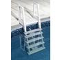 Deluxe Heavy Duty In Pool Ladder with rolling rock liner