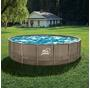 Blue Wave® 18-ft Round 52-in Deep Dark Cocoa Wicker Frame Swimming Pool Package with Cover