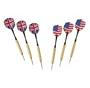 stainless steel tip darts with american and union jack flag flights