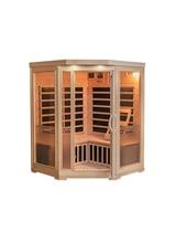 Sonoma 3-Person Hemlock Infrared Corner Sauna with 7 Carbon Heaters