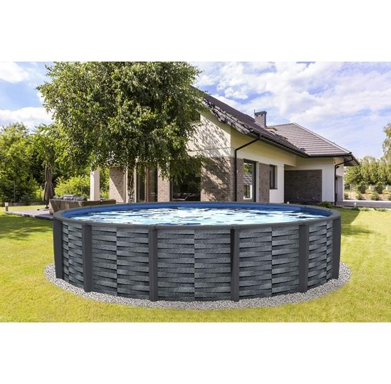 Affinity Round 52-in Deep 7-in Top Rail Resin Swimming Pool Package