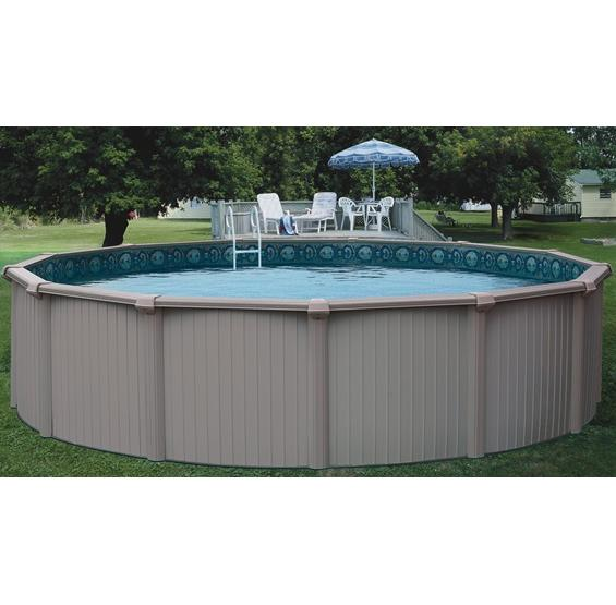 Bermuda above ground pool pc pools for Top of the line above ground pools