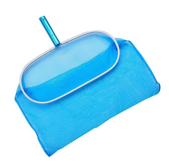 Aluminum Deep Pool Bag Rake w Chemical-Resistant Mesh, No-Mar Finish
