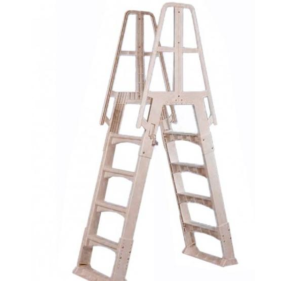 Premium A-Frame Above Ground Pool Ladder - Taupe