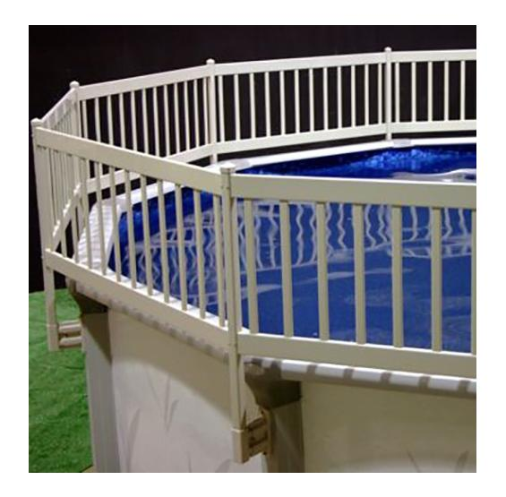"Above Ground Premium Resin 24"" Tall Taupe Pool Fence"