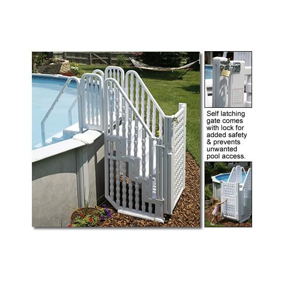 Complete Above Ground Pool Entry System W Gate Pc Pools