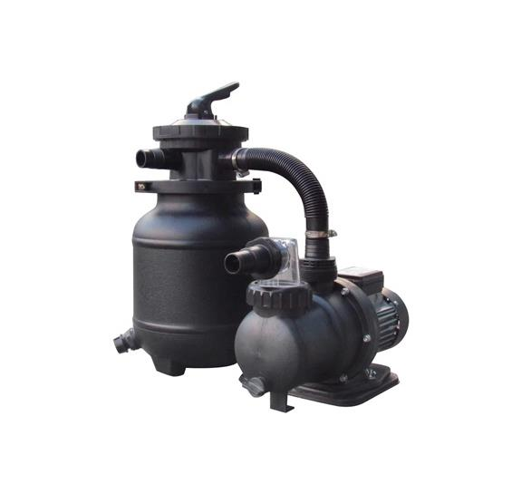 10-in, 25lb Sand Filter System for AG Pools - 1/3HP, 1850GPH