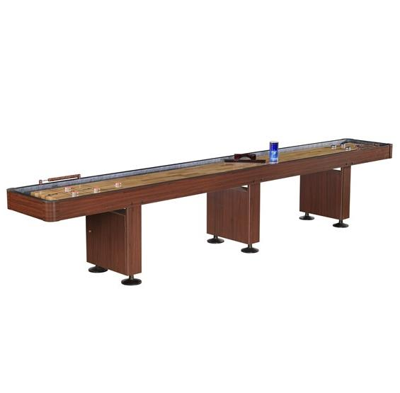 Challenger 14 ft Shuffleboard Table - Dark Cherry
