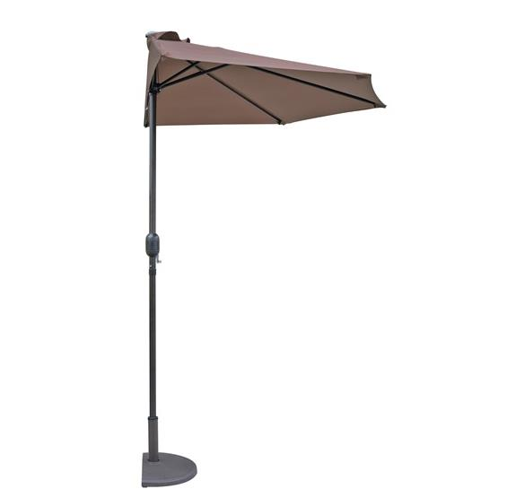 Lanai 9-ft Half Umbrella in Polyester Coffee