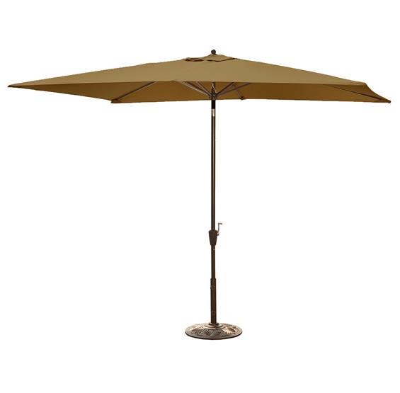 Patio Umbrella Alternative: Adriatic 6.5-ft X 10-ft Rectangular Market Umbrella In