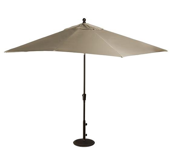 Caspian 8-ft x 10-ft Rectangular Market Umbrella in Sunbrella Acrylic