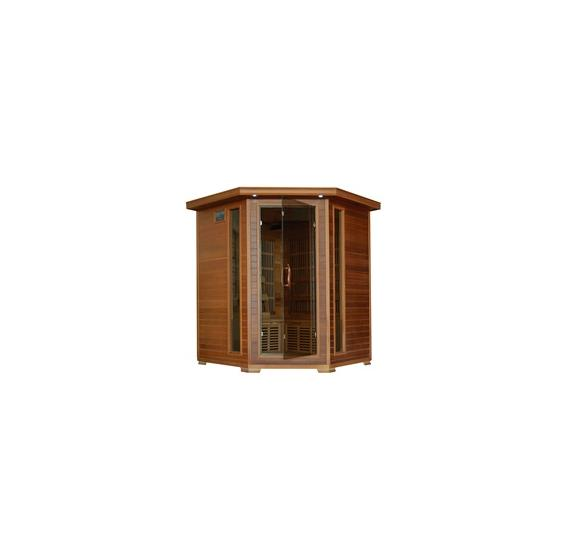 WHISTLER - 4 PERSON CEDAR CORNER CARBON INFRARED HEATWAVE SAUNA™