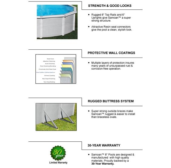 Samoan Above Ground Pool Quality Features