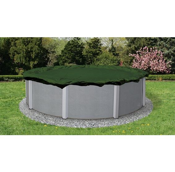 Winter Pool Cover - Above Ground Pool - 12 year Warranty (green)