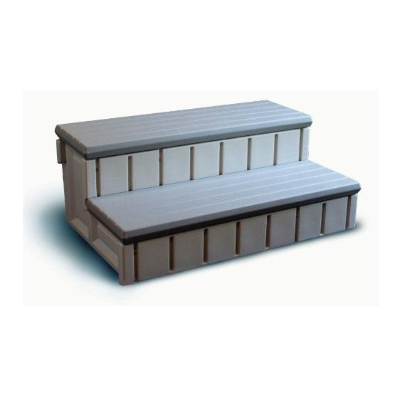 resin spa step gray top pcpools