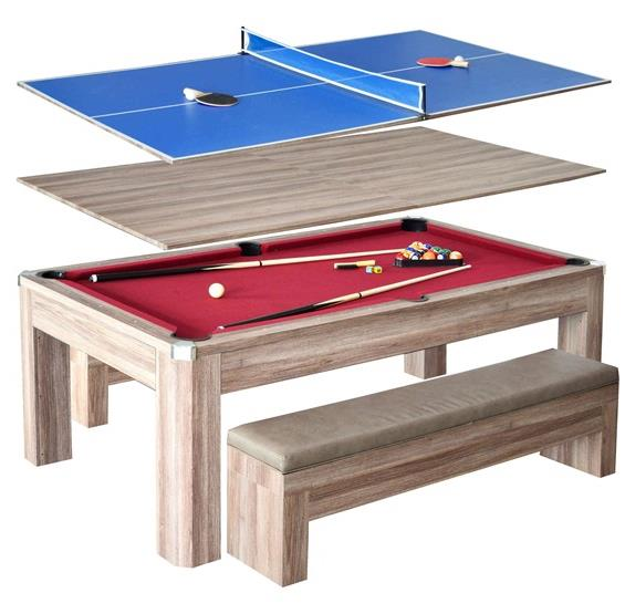 Newport 7-ft Pool Table Combo Set with Benches