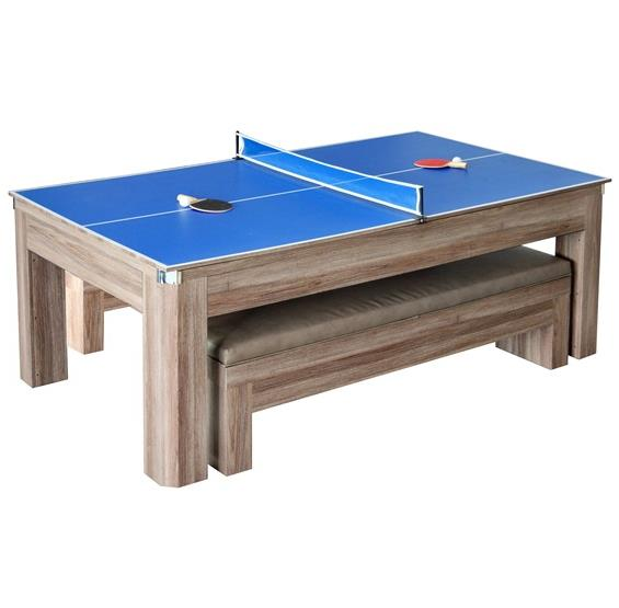 Newport 7 Ft Pool Table Combo Set With Benches Pc Pools