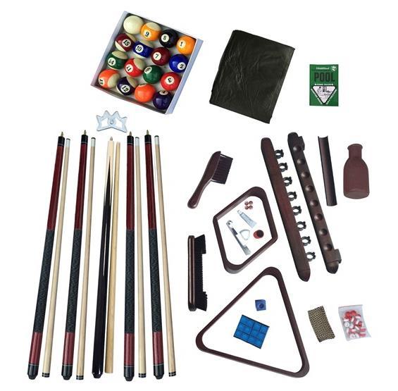 Deluxe Billiards Accessory Kit Mahogany