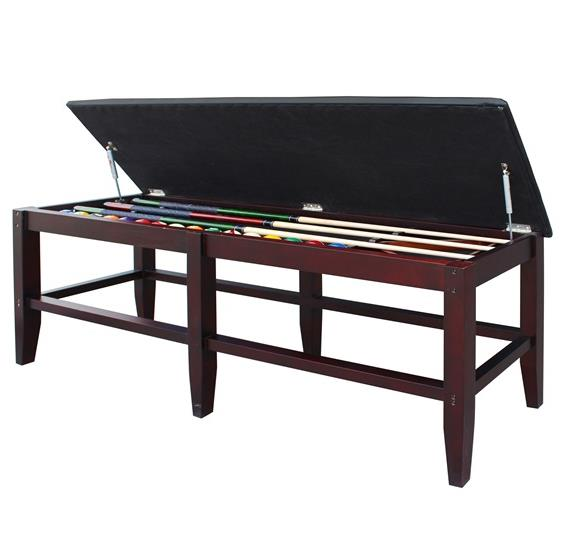 Unity Spectator Storage Bench Walnut Pc Pools
