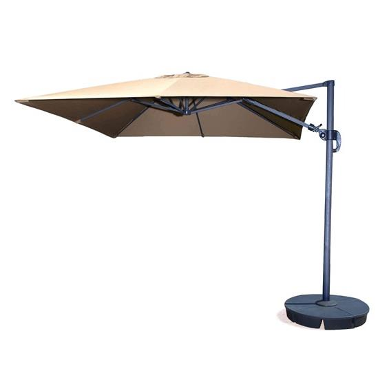 Santorini II 10-ft Square Cantilever Umbrella in Sunbrella Acrylic