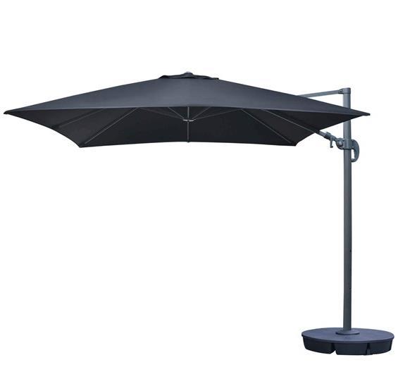 Patio Umbrella Alternative: Santorini II 10-ft Square Cantilever Umbrella In Sunbrella