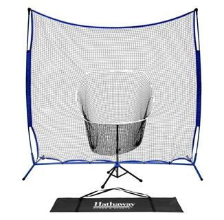 Powerstroke Baseball Hitting Net System with Adjustable Tee