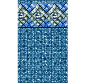 """33' Round Pool Liner Bermuda Tile Unibead Pool Liner Heavy Gauge (48"""")"""