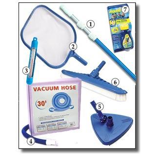 Standard Pool Maintenance Kit (30' Hose, 12' Telescopic Vac Pole)