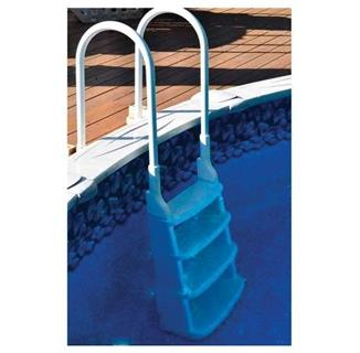 Snap-Lock Deck Ladder for Above-Ground Pools - White