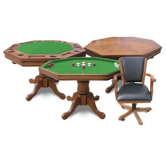 3-in-1 Poker Table w/4 chairs